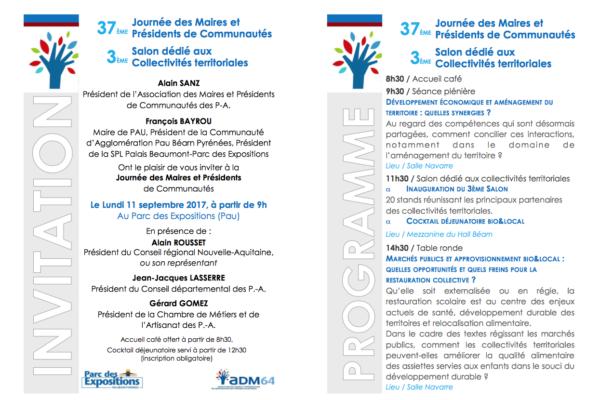 Journée des Maires des Pyrénées-Atlantiques – 11/09/17