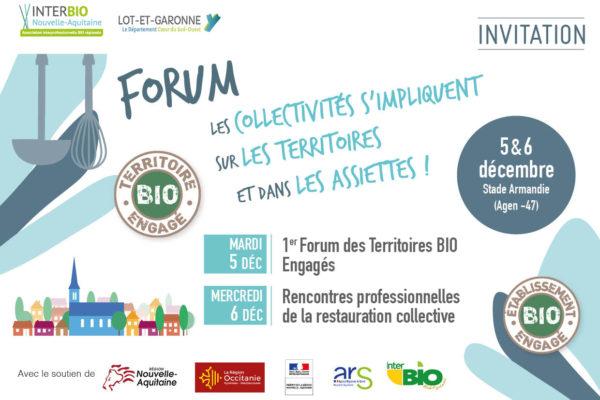 5 et 6 décembre 2017– Forum «Les collectivités s'impliquent sur le territoires et dans les assiettes ! »Stade Armandie à Agen
