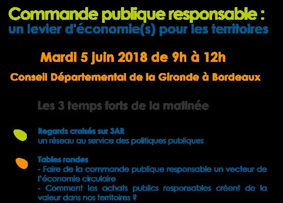 05/06/18 : Commande publique responsable : levier d'économie(s)  pour les territoires