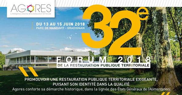 Du 13 au 15/06/18 : 32ème Forum AGORES