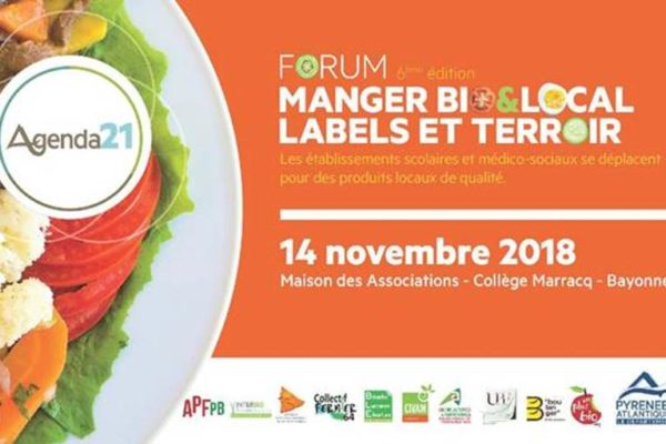 14/11/18 : Forum « Manger Bio&Local, Labels et Terroir »