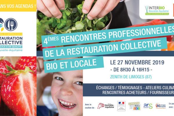 A noter ! 4èmes Rencontres professionnelles de la restauration collective bio et locale