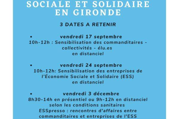 Cycle commande publique et Economie Sociale et Solidaire en Gironde